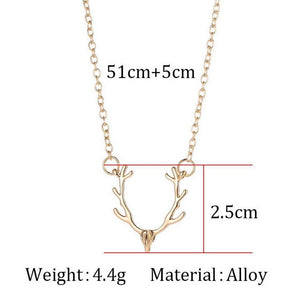 Antler Necklace - To My Girlfriend - You Are My Favorite Deer