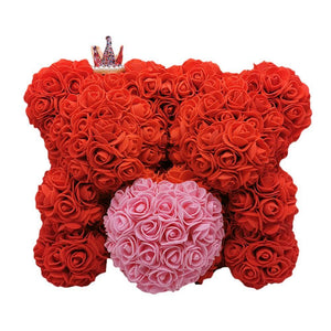 25cm Double Rose Bear - Valentine's Day Gift