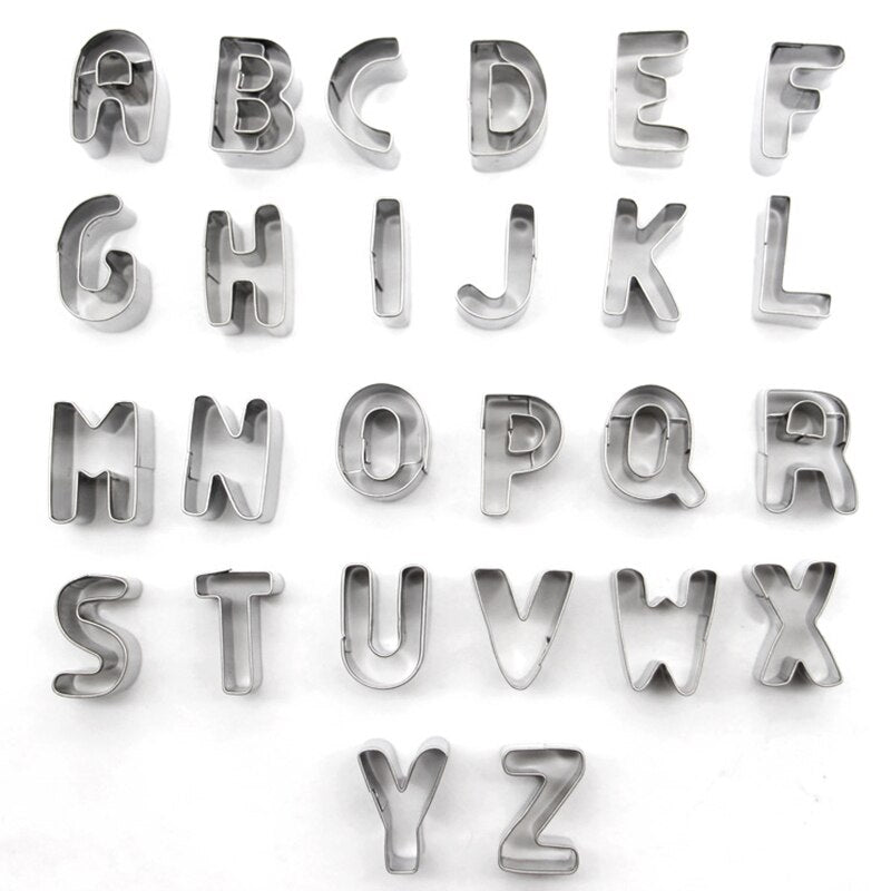 Stainless Steel 26 Alphabet Letter Cookie Cutters
