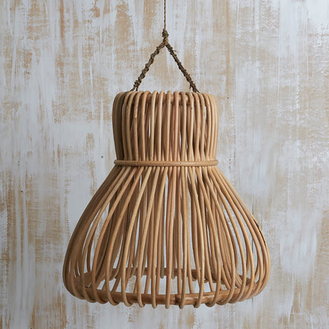Hand woven Rattan Bell Lighting