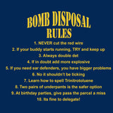 Bomb Disposal Rules v2 - T-Shirt (Printed Front and Back) - Divers Gifts