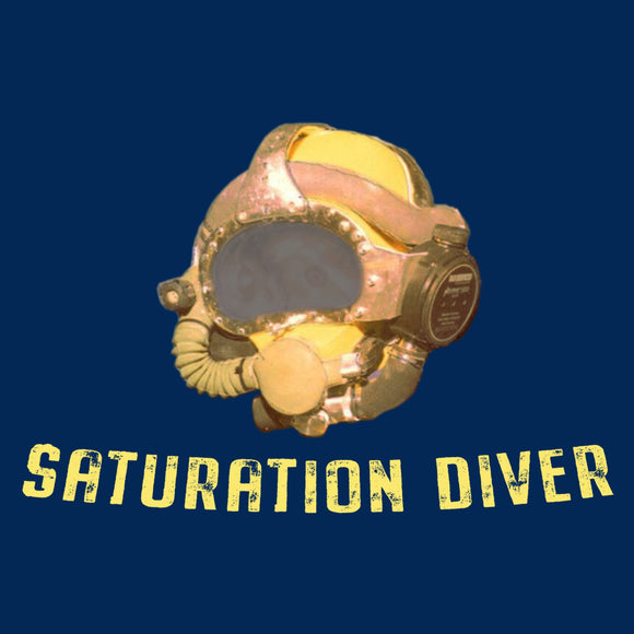 Saturation Diver - T-Shirt - (Printed Front and Back) - Divers Gifts & Collectables