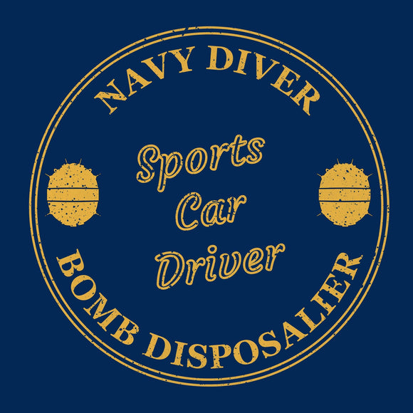 06 - Sweatshirt - Navy Diver - (Printed Front and Back)