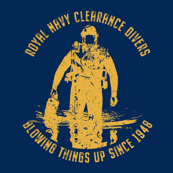 12 - RNCD - Blowing things up - T-Shirt (Printed Front and Back) - Divers Gifts & Collectables