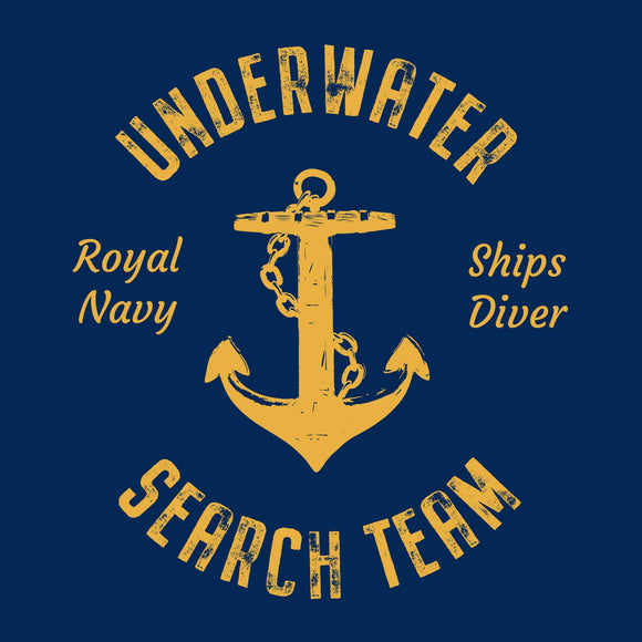 22 - Underwater Search Team (Printed Front and Back) - Divers Gifts