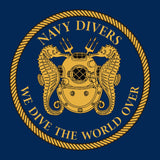 29 - We dive the World Over - T-Shirt (Printed Front and Back) - Divers Gifts & Collectables