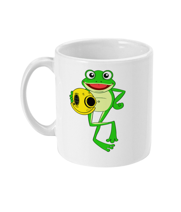 11oz Mug - Happy Frog - Divers Gifts & Collectables