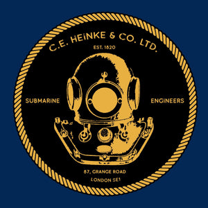 31a - Heinke Logo dark background (Printed Front and Back) - Divers Gifts