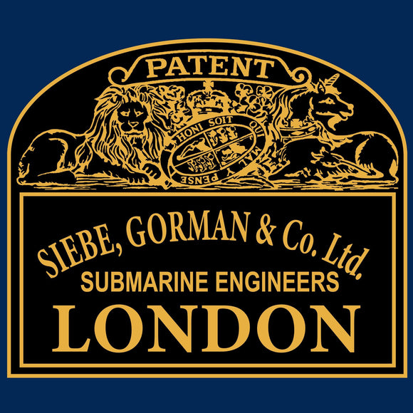 32a Siebe Gorman Plaque dark background  - T-Shirt (Printed Front and Back) - Divers Gifts