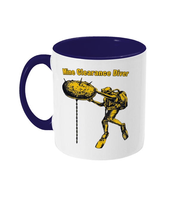 Two Toned Mug - Mine Clearance Diver - Divers Gifts & Collectables