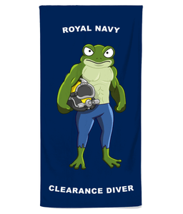 Royal Navy Clearance Diver Beach Towel - Divers Gifts