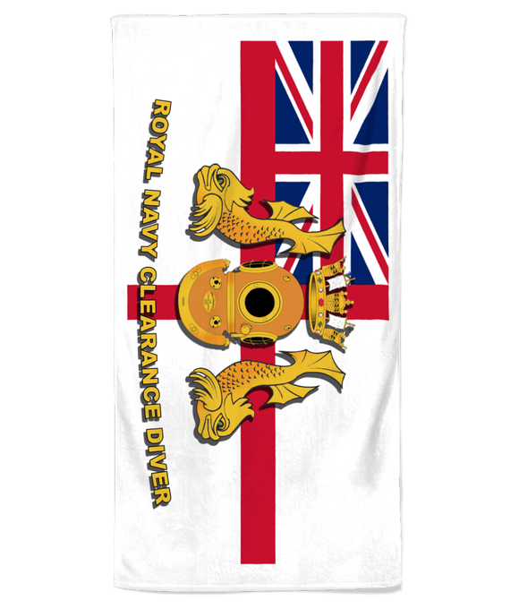 Royal Navy Clearance Diver Beach Towel - Divers Gifts & Collectables