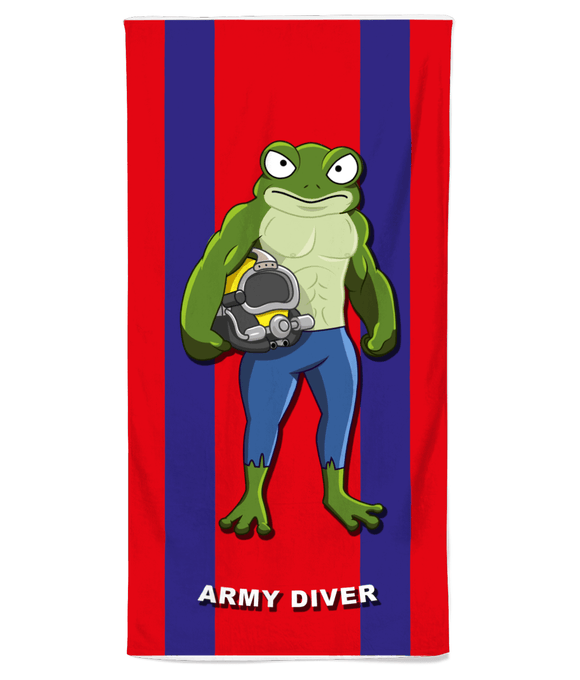 Army Diver Beach Towel - Divers Gifts & Collectables