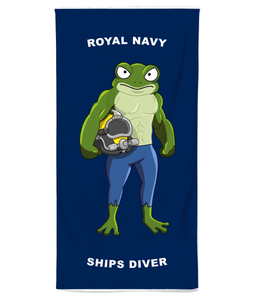 Royal Navy Ships Diver Beach Towel - Divers Gifts & Collectables