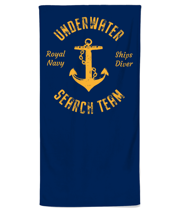 22 - Underwater Search Team Beach Towel - Divers Gifts