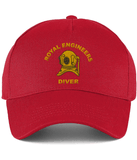 Royal Engineers Diver Embroidered Cotton Cap