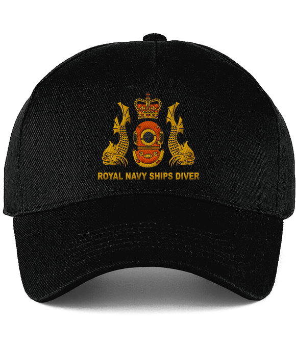 Royal Navy Ships Diver Embroidered Cotton Cap