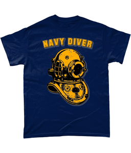 Gildan Heavy Cotton T-Shirt - Navy Diver - Divers Gifts & Collectables