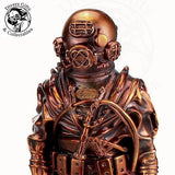 "BM-30-AC-14 - 14"" MkV Diver statuette in Antique Copper - Divers Gifts & Collectables"