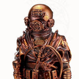 "8"" MkV Diver statuette in Antique Copper - Divers Gifts"