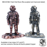 "BM-30-AC-8 - 8"" MkV Diver statuette in Antique Copper - Divers Gifts & Collectables"