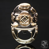 BO-04 Mark V Diving Helmet (Tinned/Brass) Bottle Opener - Divers Gifts & Collectables