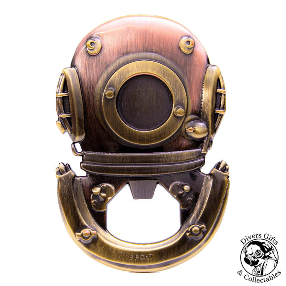 BO-06 - Siebe Gorman Diving Helmet (Brass/Copper) Bottle Opener - Divers Gifts & Collectables