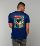 53 - Underwater Knife Fighter  - T-Shirt (Printed Front and Back)