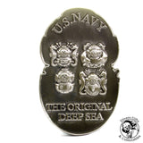 01B - MkV US Navy Challenge Coin - Two Tone (Tinned and Brass)