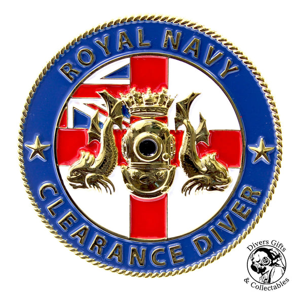 02 - Royal Navy Clearance Diver Challenge Coin - Divers Gifts
