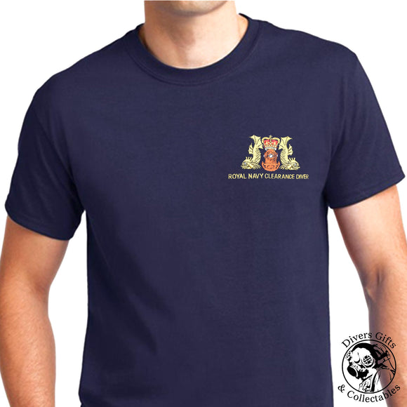 Royal Navy Clearance Diver Embroidered T-Shirt - Divers Gifts & Collectables