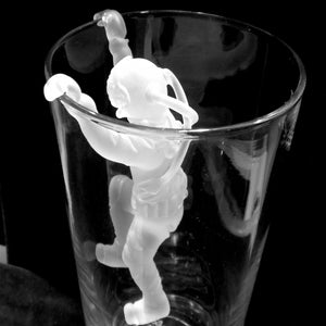 GMD-23a Climbing Hard Hat Diver for Beer Glass (Frosted) - Divers Gifts & Collectables