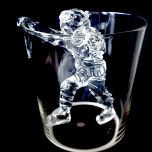 GMD-23b Climbing Hard Hat Diver for Beer Glass (Clear) - Divers Gifts & Collectables