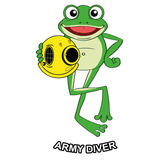 Happy Army Diver - T-Shirt - Divers Gifts & Collectables
