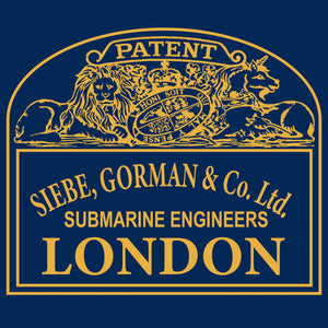 32 Siebe Gorman Plaque  - T-Shirt (Printed Front and Back) - Divers Gifts