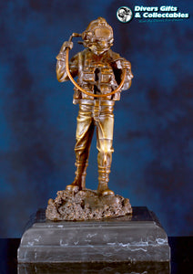 Kirby Morgan® Superlite 17 Diver in Solid Bronze on Granite Base - Divers Gifts & Collectables