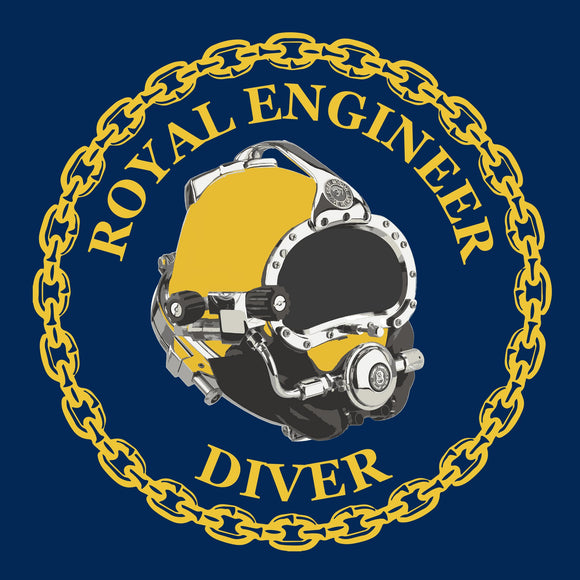 24 - Royal Engineer Diver with Kirby Morgan® Superlite® Helmet (Printed Front and Back) - Divers Gifts & Collectables