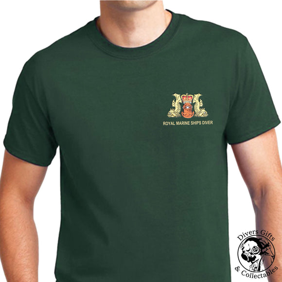 Royal Marine Ships Diver Embroidered T-Shirt - Divers Gifts
