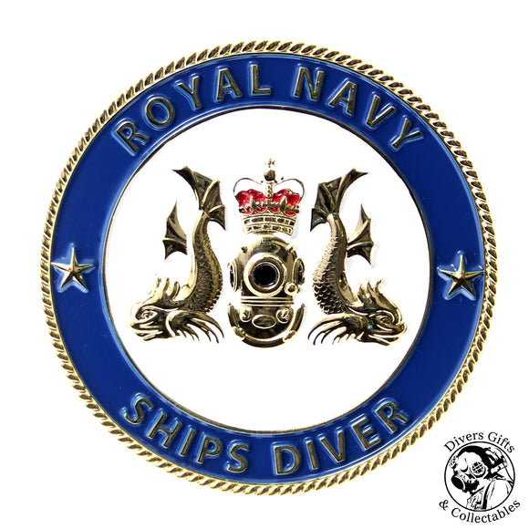 03 - Royal Navy Ships Diver Challenge Coin - Divers Gifts