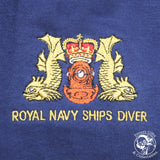Royal Navy Ships Diver Embroidered Polo-Shirt - Divers Gifts