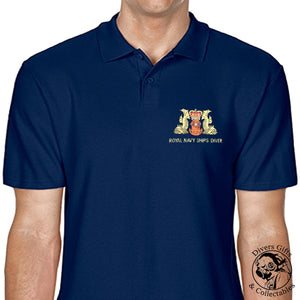 Royal Navy Ships Diver Embroidered Polo-Shirt - Divers Gifts & Collectables