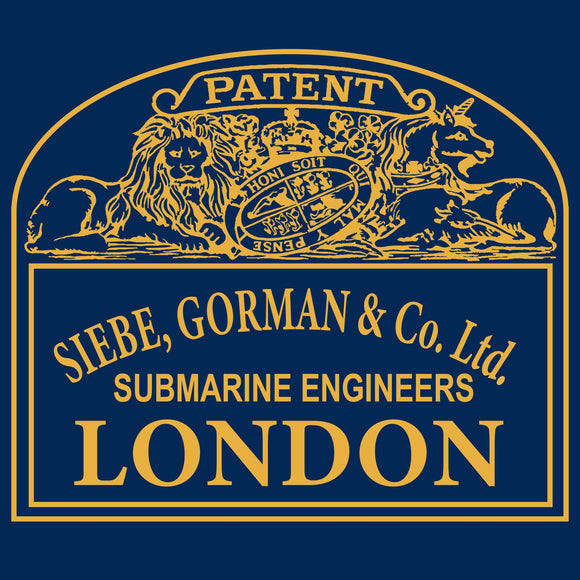 33 - Siebe Gorman Plaque Front  - T-Shirt - Divers Gifts