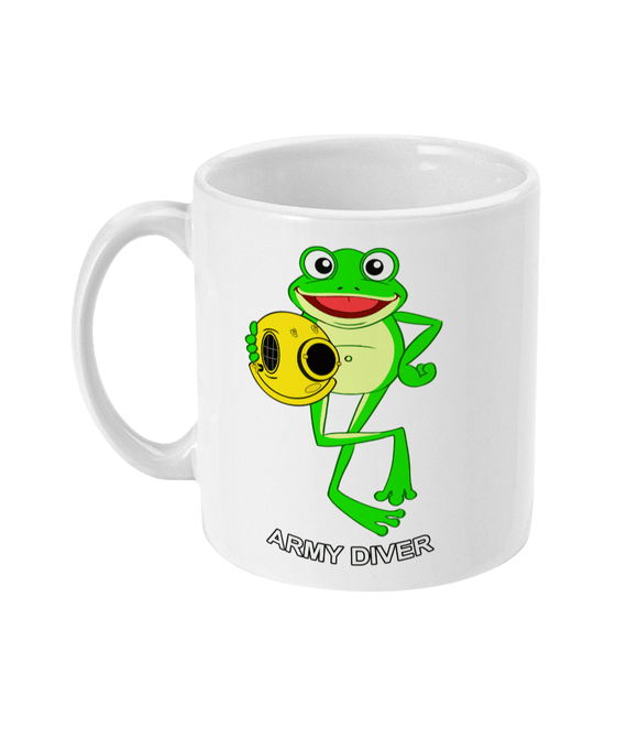 11oz Mug - Happy Frog - Army Diver - Divers Gifts