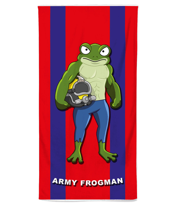 Army Frogman Beach Towel - Divers Gifts & Collectables