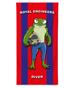 Royal Engineers Diver Beach Towel - Divers Gifts & Collectables