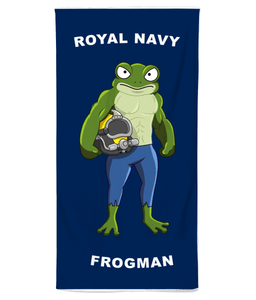 Royal Navy Frogman Beach Towel - Divers Gifts & Collectables