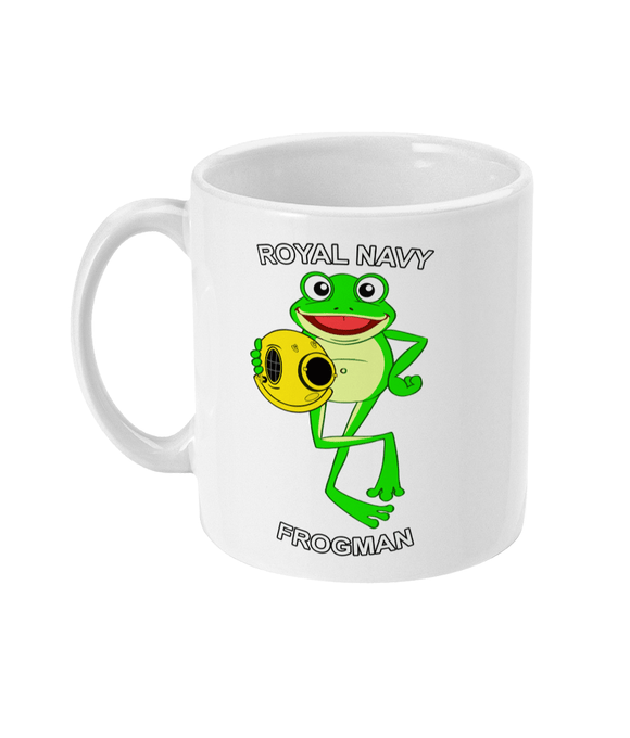 11oz Mug - Happy Frog - Royal Navy Frogman - Divers Gifts