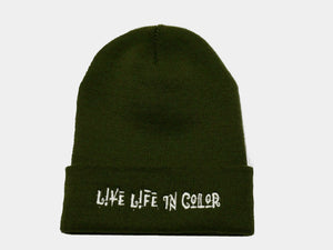 Olive Live life in color  skully