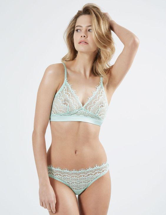 Bisou Bisou Mint Triangle Bra - Mimi Holliday