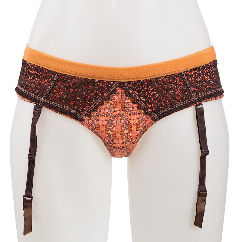 Maaji (L Only) Mandarina Luster Gather Thong - Little Intimates Lingerie